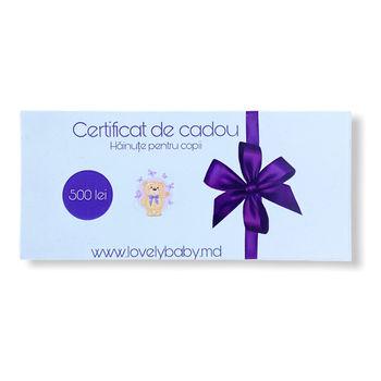 Подарочный сертификат 500 лей