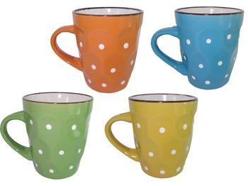 купить Чашка керамическая рельефная с точками в Кишинёве