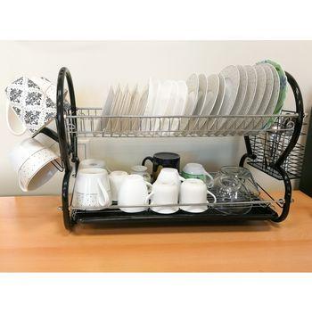 купить Artmoon Desert Двухуровневая сушилка для посуды из хромированной стали (699751) размеры: 67.5x38.5x25 см в Кишинёве