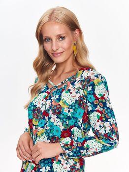Платье TOP SECRET Синий в цветочек ssu2445