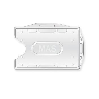 Бейдж пластиковый твердый вертикальный Mas