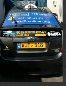 cumpără Publicitate pe fereastra din spate a unui taxi în Chișinău