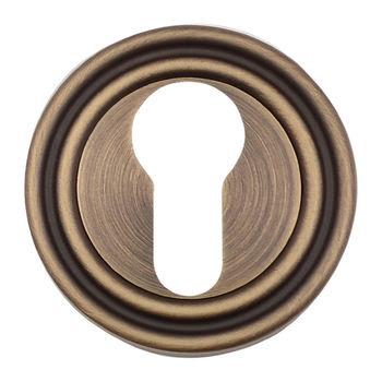 Дверная ручка на розетке Timeless матовая бронза  + накладка под цилиндр