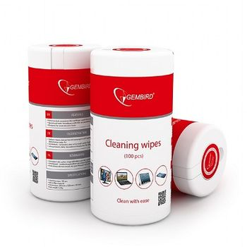 Gembird Cleaning wipes (CK-WW100-01), Cleaning wipes LCD/TFT 100 pcs