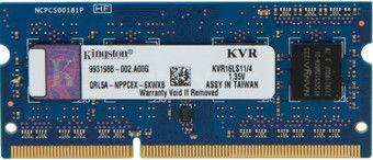 4Gb DDR3-1600 Kingston ValueRam PC12800 CL11 1.35V  SODIMM
