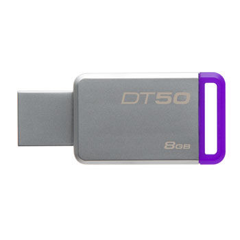 8GB USB3.1 Kingston DataTraveler 50  8GB Silver/Purple
