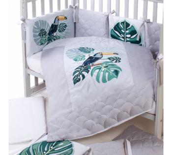 купить Klups постельное бельё Tropic Baby (6 ед) в Кишинёве