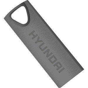 16GB USB2.0  Hyundai Bravo Deluxe Metal casing, Space Gray, Compact and lightweight, (Read 18 MByte/s, Write 10 MByte/s)