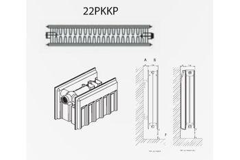 Радиатор стальной DemirDokum T.22 300 x 1400 мм