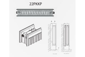Radiator din otel DemirDokum T.22 300 x 1800 mm