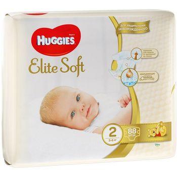 cumpără Huggies Scutece Elite Soft Mega 2, 3-6 kg 88 buc. în Chișinău