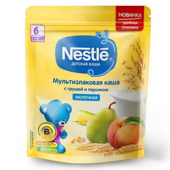 купить Nestle каша мультизлаковая молочная с грушей и персиком, 6+мес. 220г в Кишинёве