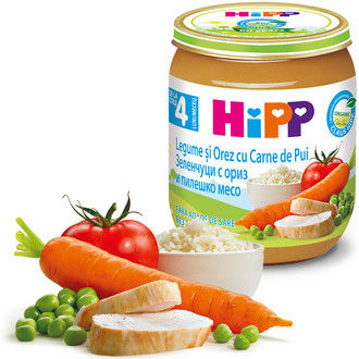 купить Hipp пюре курица, рис и овощи, 4+мес. 125г в Кишинёве