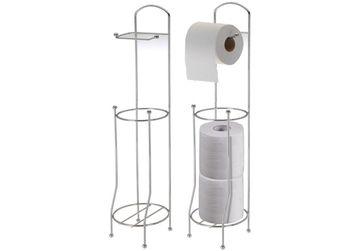 Держатель для туалетной бумаги с резервом, металл