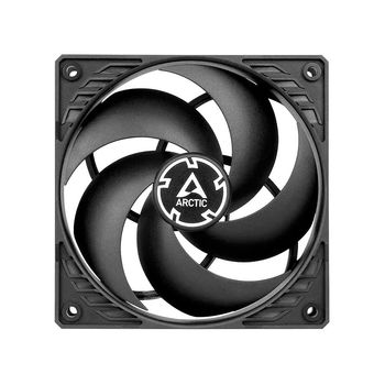 Case/CPU FAN Arctic P12 PWM PST, Pressure-optimised Fan with PWM PST, Black/Black, 120x120x25 mm, 4-Pin-Connector + 4-Pin-Socket, 200-1800rpm, Noise 0.3 Sone, 56.3 CFM (95.7 m3/h) (ACFAN00120A)