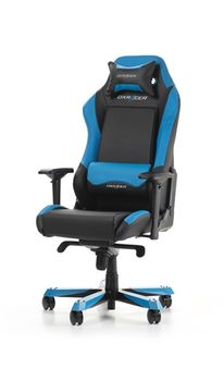 Gaming Chairs DXRacer - Iron GC-I11-NB-S4, Black/Black/Blue - PU leather & PVC leather, Gamer weight up to 130kg / growth 160-195cm, Foam Density 52kg/m3, 5-star Wide Alum Base,Gas Lift 4 Class,Recline 90*-135*,Armrests:4D,Pillow-2,Caster-3*PU,W-30kg