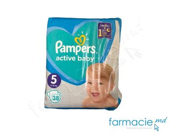 купить Scutece PAMPERS Active Baby 5 N38 (11-16kg) в Кишинёве
