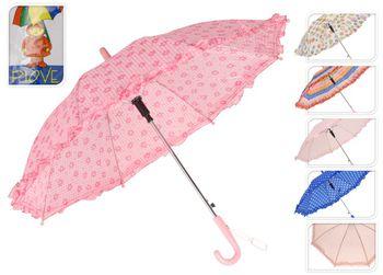 Зонт-трость детский с оборкой, D70cm, автомат