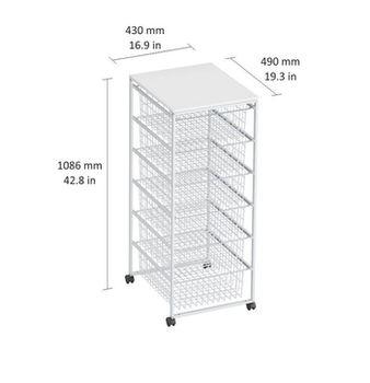 купить Контейнер с 6 коробками 1020x430x490 мм, белая в Кишинёве