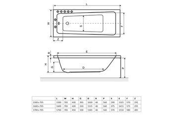 купить Ванна прямоугольная Excellent Ava 160 в Кишинёве