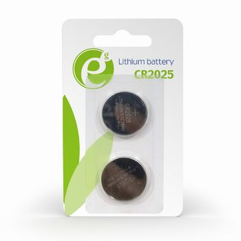 Gembird  Button cell CR2025, 2pcs, High performance and long lifetime