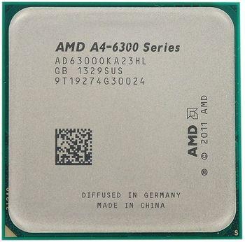 AMD A-Series X2 A4-6300 Socket FM2  3.7-3.9GHz, 1MB L2, Intergrated HD8370D, 65W 32nm, Richland, Tray