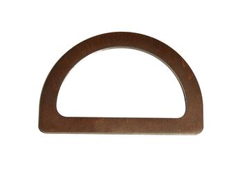 Mâner din lemn, cafeniu închis / 15x10 cm
