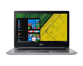 "ACER Swift 3 Sparkly Silver (NX.GNXEU.001), 14.0"" FullHD (Intel® Core™ i3-7100U 2.40Hz (Kaby Lake), 8Gb DDR4 RAM, 128Gb SSD, Intel® HD Graphics 520, CardReader, WiFi-AC/BT, 4cell, HD Webcam, RUS, Linux, 1.5kg, 17.95mm)"