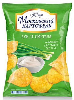 """Чипсы """"Московский Картофель"""" Лук и Сметана 130г"""