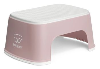 купить Стульчик-подставка BabyBjorn Step Stool Powder Pink/White в Кишинёве