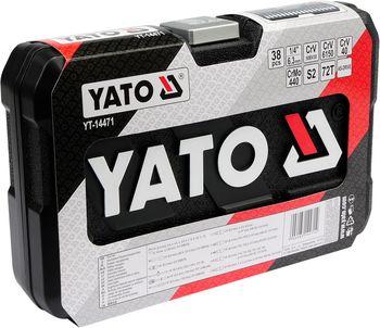 """купить Набор головок с трещоткой Yato YT-14471 1/4"""" 38(шт). в Кишинёве"""