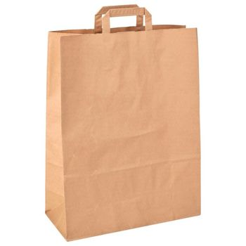 Бумажные крафт пакеты 26*13*32 см