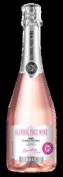 Розовое Игристоеполусладкое безалкогольное вино, 0.75 Л