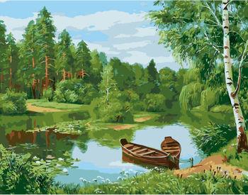 Картина по номерам 40x50 Волшебный пруд VA1667