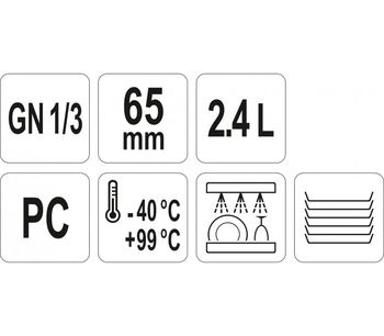 cumpără Recipient GN 1/3 65 mm PC în Chișinău