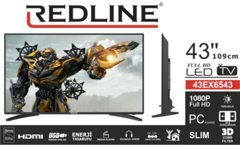"купить REDLINE LCD TV 43"" Full HD Android + DVB-S2 K1000 в Кишинёве"