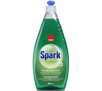 купить Sano Средство для мытья посуды Spark Cucumber-Limon Scent (500 мл.) 425899 в Кишинёве