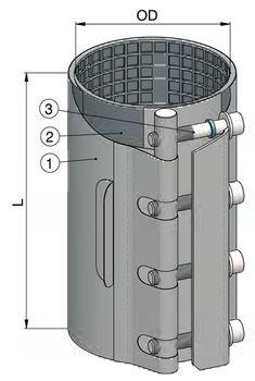 купить Хомут ремонтный  dn 60-65мм PN16, L=130mm (однополосный) WATO в Кишинёве