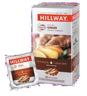 Черный чай Hillway с имбирем 25х1,5гр