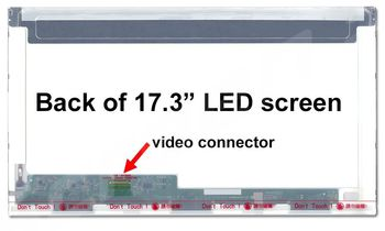 "Display 17.3"" LED 30 pins HD+ (1600x900) Socket Left-Side Glossy Innolux N173FGE-E23, B173RTN01.1, B173RTN01.3, B173RTN01.4, N173FGE-E11"
