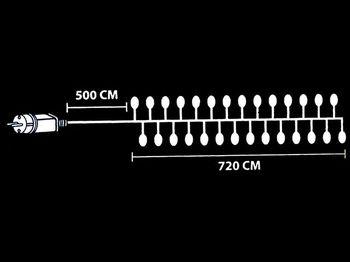 """купить Огни новогодние """"густые"""" 720 микроLED, тепл-бел, 7.2m, прозр в Кишинёве"""