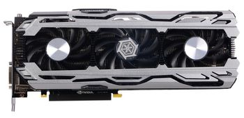 INNO3D / iChiLL GeForce GTX 1070 X3 V2 / 8GB DDR5, 256bit, 1771/8000Mhz, DVI, HDMI, 3x DisplayPort, Triple Fan - iChiLL X3 Solution (Power Direct Cooling System), IDLE mode, Performance LED Indicators, Inside the Box: Mouse Pad + 3D Mark/VR Mark