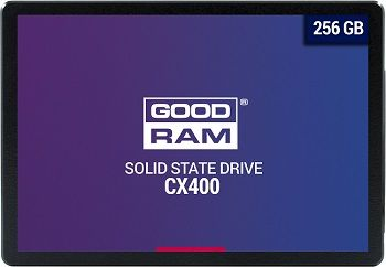 "2.5"" SSD 256GB  GOODRAM CX400, SATAIII, Sequential Reads: 550 MB/s, Sequential Writes: 490 MB/s, Maximum Random 4k: Read: 65,000 IOPS / Write: 82,500 IOPS, Thickness- 7mm, Controller Phison PS3111-S11, 3D NAND TLC"