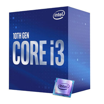 Процессор CPU Intel Core i3-10100F 3.6-4.3GHz Quad Core 8-Threads, (LGA1200, 3.6-4.3GHz, 6MB, No Integrated Graphics) BOX with Cooler, BX8070110100F (procesor/процессор)