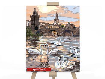 Картина по номерам 50х40см Лебедь
