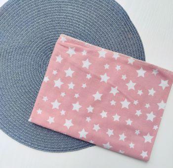 Байковая пелёночка Pampy 100*80 cm Pink with Stars