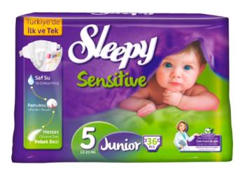 купить Sleepy Подгузники для детей Sensitive 5, 12-25 кг, 36 шт. в Кишинёве