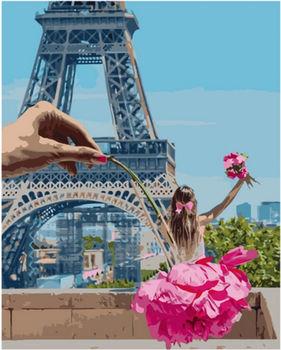 Картина по номерам 40x50 Девочка в Париже VA2250