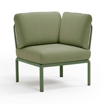 Кресло модуль угловой с подушками Nardi KOMODO ELEMENTO ANGOLO AGAVE-giungla Sunbrella 40374.16.140