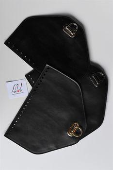 Clapă cu închizătoare pentru geantă/rucsac, Negru